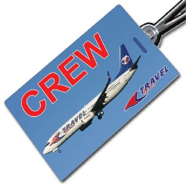 TRAVEL SERVICE 737-800 Crew Tag